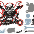 Vector bikers simbols set — Stock Vector