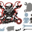 Royalty-Free Stock Immagine Vettoriale: Vector bikers simbols set