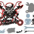 Vector bikers simbols set — Stock Vector