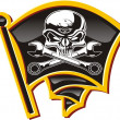 Royalty-Free Stock Vector Image: Vector moto-Jolly Roger badge