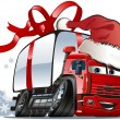 Vector Christmas delivery / cargo truck — Stock Vector