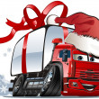 Royalty-Free Stock Vektorov obrzek: Vector Christmas delivery / cargo truck