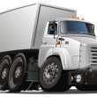 Vettoriale Stock : Vector cartoon delivery / cargo truck