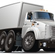 Royalty-Free Stock Vektorov obrzek: Vector cartoon delivery / cargo truck
