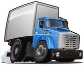 Vector cartoon delivery / cargo truck — Stock Vector
