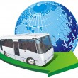 Vector tourist bus - Stock Vector