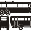Vector retro bus set — Stok Vektör