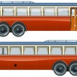Royalty-Free Stock Vector Image: Vector vintage bus liner
