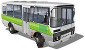 Urban/suburban passenger mini-bus — Stock Vector