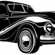 Vector illustration retro car — 图库矢量图片