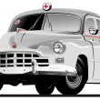 Royalty-Free Stock Vector Image: Vector Retro Ambulance