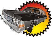 Black classic car — Stock Vector