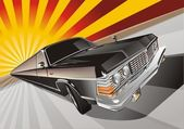 Vector Very long cartoon limo — Vetor de Stock
