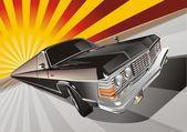 Vector Very long cartoon limo — Stock Vector