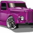Stock Vector: Purple GAZ Hot Rod