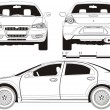 Vector de stock : Vector car technical draft