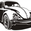 Vector VW Bug - Stockvectorbeeld
