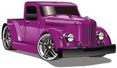 Purple GAZ Hot Rod — Stock Vector
