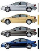 VECTOR MODERN CAR ISOLATED — Stock Vector