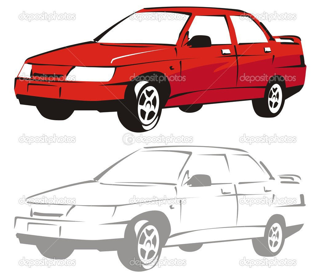 Vector cartoon car — Stock Vector #1842376