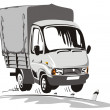 Cartoon delivery / cargo truck — Vettoriali Stock