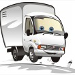 Vector cartoon delivery / cargo truck — Vettoriali Stock