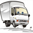 Vector cartoon delivery / cargo truck — Stockvectorbeeld