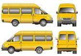 Gele mini bus — Stockvector