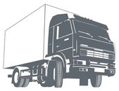 Vector truck silhouette — Stock Vector