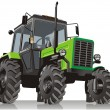 Vector tractor — Stockvectorbeeld