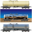 Royalty-Free Stock Vector Image: Oil / gasoline tanker car