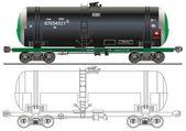 Oil / gasoline tanker car — Stock Vector