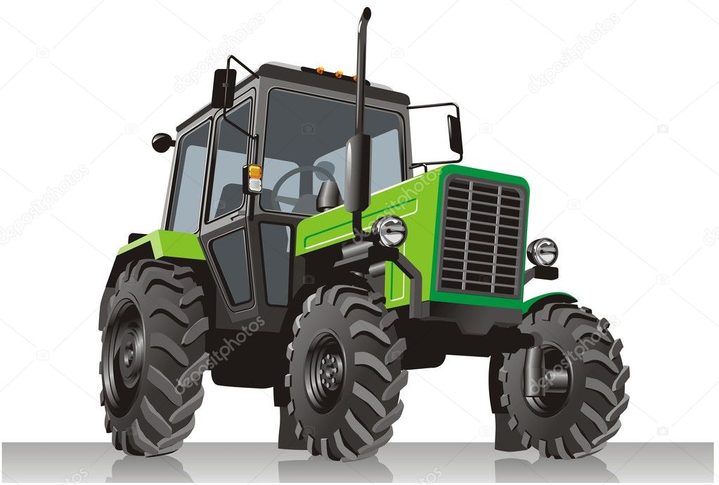 Detailed  green tractor. Available AI-10  format — Stock Vector #2214945