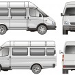 Royalty-Free Stock Immagine Vettoriale: Mini bus