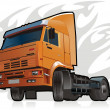 Vector heavy truck - Stock Vector