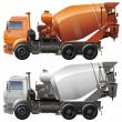 Stock Vector: Vector cement truck