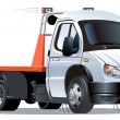 Vector cartoon tow truck - Image vectorielle