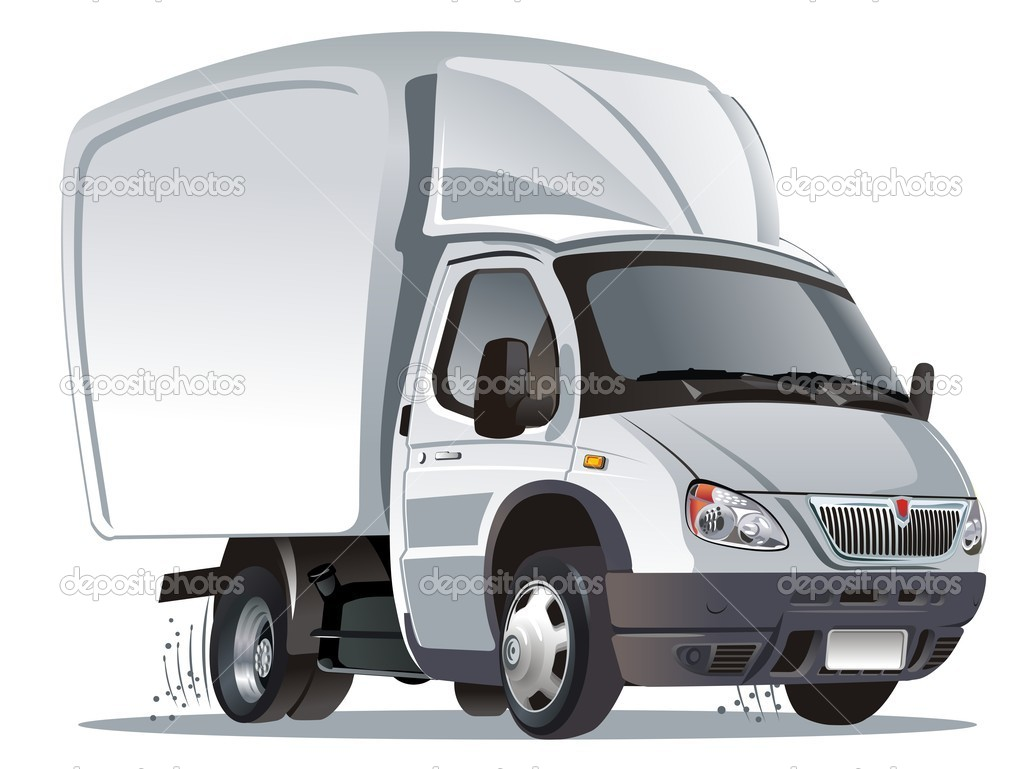 Vector illustration of cartoon delivery / cargo truck. Available AI-10  format separated by groups for easy edit.  Stock Vector #2406499