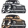 Vector de stock : Vector cartoon retro car