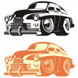 Vector cartoon retro car — Vettoriali Stock
