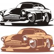 Vector cartoon retro car — ストックベクタ