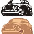 voiture rétro de vecteur caricature — Vecteur