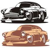 Vector cartoon retro car — Stock Vector