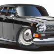 Vector cartoon classic car — Imagen vectorial
