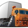 Vector cartoon delivery / cargo truck - Image vectorielle