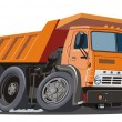 Vector cartoon dump truck — Stock Vector