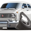 Royalty-Free Stock Imagem Vetorial: Vector cartoon retro car
