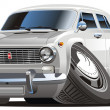 Royalty-Free Stock Imagen vectorial: Vector cartoon retro car