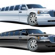Vector cartoon limousines - Stock Vector