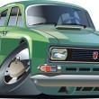 Vector cartoon retro car — Stockvector  #2457647